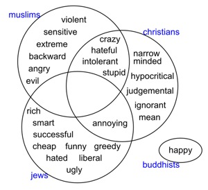 religious stereotypes visualized using web seer  u00b7 sameer halai